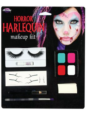 Shattered and Broken Doll or Harlequin  Makeup Kit