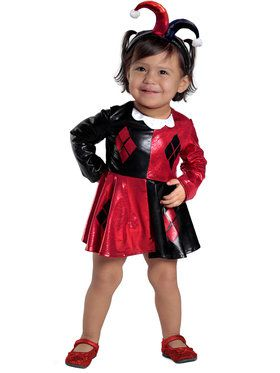 Harley Quinn Diaper Cover Dress Set