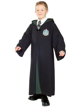 Slytherin Robe (Harry Potter) Costume Deluxe for Kids