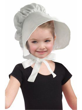 Hat - Child White Bonnet