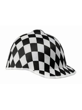Hat - Jockey Black Check