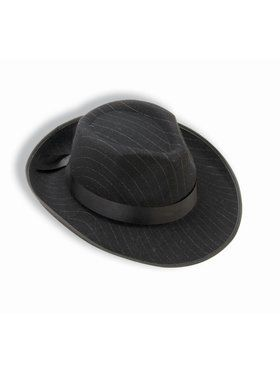 Hat - Pinstriped Fedora