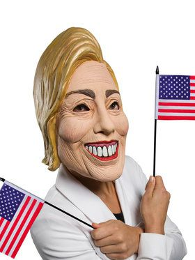 3/4 Latex Hillary 2018 Halloween Masks