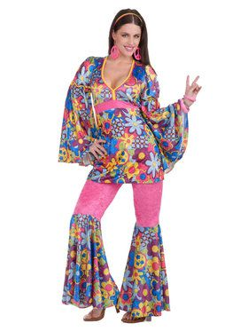 Hip Flower Child Adult Costume