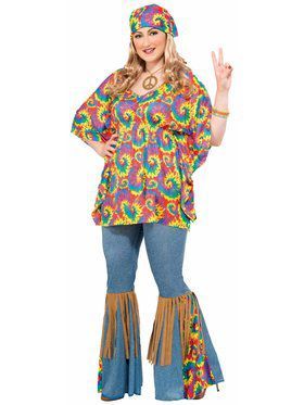 Hippie Chick - Plus Adult Costume