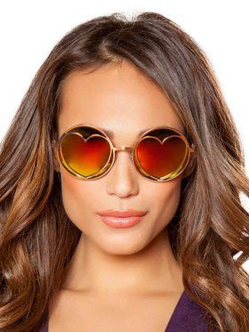 Hippie Glasses with Heart Lense Frame