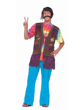 Hippie Peace Vest - Standard Adult Costume