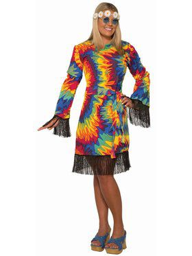 Hippie Tie Dye Dress - Plus