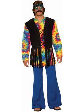 Hippie Tie Dye Dude Adult Costume