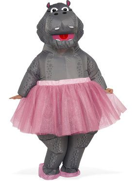 Hippo Inflatable Adult Costume One-Size