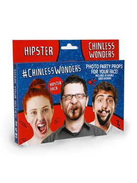 Chinless Hipster Wonders Photo Props
