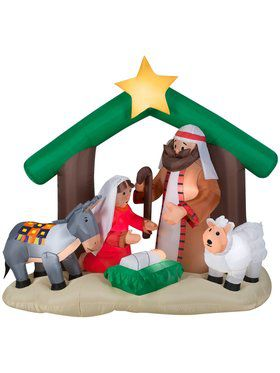 6 Ft Inflatable Nativity Scene