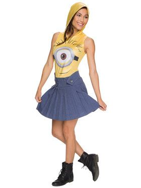 Hooded Dress Women's Minion Costume Minions Movie