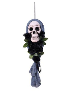 Hooded Skull With Flowers