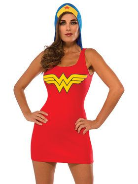 Hooded Tank Dress Adult Wonder Woman Costume