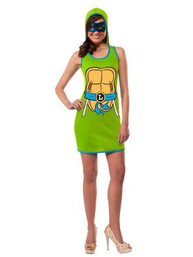Hooded Tank Dress Women's Leonardo Costume