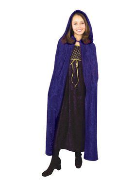 Horror Cloak -Crushed Panne Child Costume