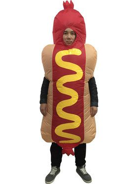 Hotdog Inflatable Adult Costume