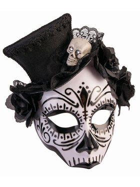 House Of Bonez - Skull Mask w/Top Hat