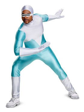 Adult Deluxe Incredibles 2 Frozone Costume