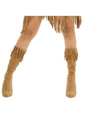 Indian Maiden Suede Adult Boot Covers Small/Medium (5 1/2-7)