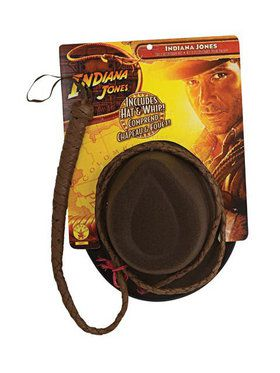 Indiana Jones Tm Adult Hat And Whip
