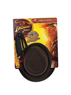 Indiana Jones Tm Child Hat And Whip