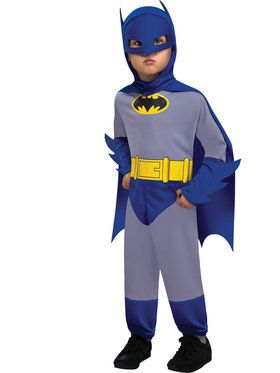 Gray and Blue Infant Batman Costume