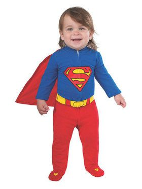 Infant Superman Romper Costume