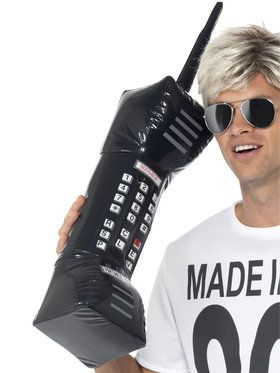 1980s Retro Inflatable Mobile Phone Costume Accessory