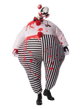 Inflatable Evil Clown One-Size Adult Costume