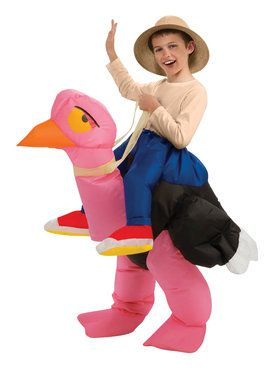 Ride-On Ostrich Inflatable Costume for Children