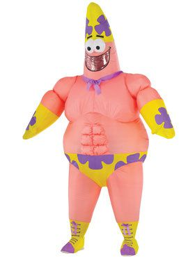 Mr. Superawesomeness Adult Inflatable Patrick Costume