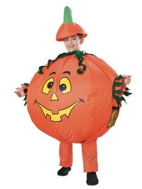 Inflatable Pumpkin Costume For Children
