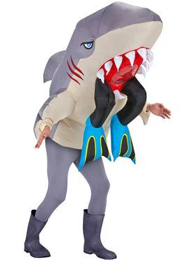 Inflatable Shark Head With Legs Adult Costume