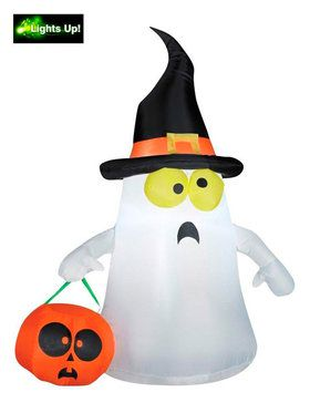 Ghost Trick-Or-Treat Inflatable Lawn Decoration