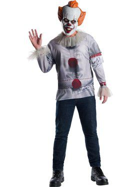 Men's Pennywise It Movie Costume Top