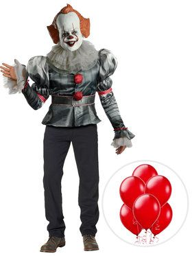 IT Pennywise Clown Deluxe Costume Kit with Balloons