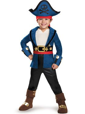 Captain Jake and the Never Land Pirates Boys Deluxe Toddler Captain Jake Costume  sc 1 st  BuyCostumes.com & Baby u003e All Baby u0026 Toddler Costumes