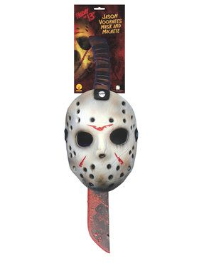 Jason Mask And Machette Set