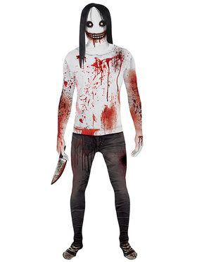 Jeff the Killer Adult Morphsuit Costume Medium