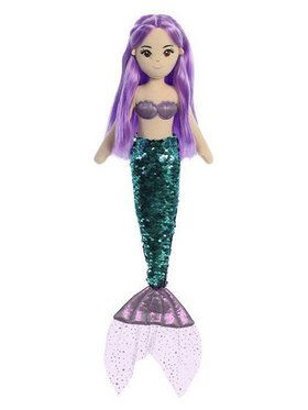 Jenna Sequin Sparkles Mermaid Plush