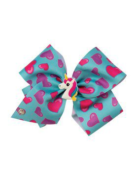 Jojo Siwa Jojo Blue Bow With Charm And Braids