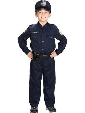 Junior Police Suit Child Costume