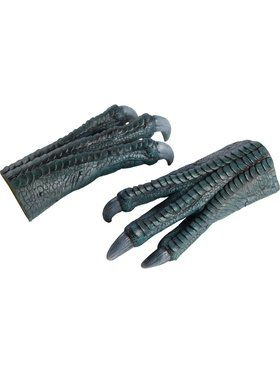 Jurassic World Adult Blue Latex Hands