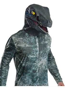 Jurassic World: Fallen Kingdom Deluxe Velociraptor Adult Overhead Latex 2018 Halloween Masks