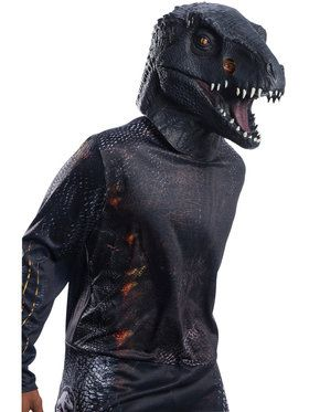 Jurassic World: Fallen Kingdom Deluxe Villain Dinosaur Adult Overhead Latex 2018 Halloween Masks