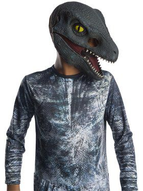Jurassic World: Fallen Kingdom Velociraptor Kids 3/4 2018 Halloween Masks