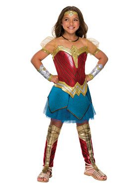 Premium Girl's Justice League Wonder Woman Costume
