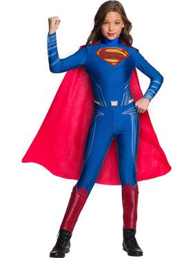 Justice League Superman Jumpsuit Costume for Girls